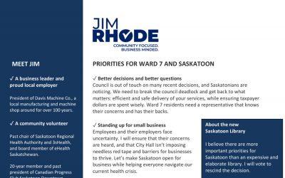 Jim Rhode Expands on Platform – Oct. 20, 2020
